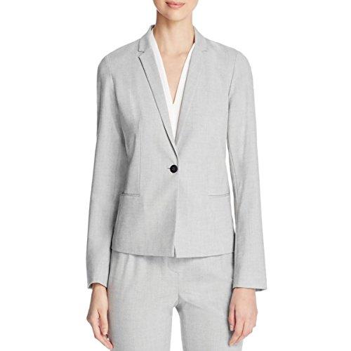 T Tahari Women's Hadar Jacket, Grey/Black, 14