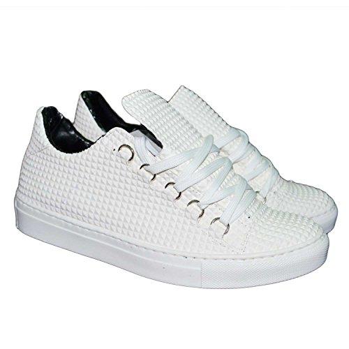 Sneakers bassa uomo man scarpe calzature modello balen bianco piramide uomo man stati uniti