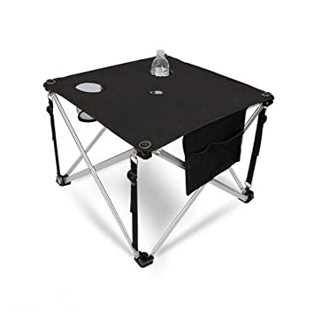 World Outdoor Products Ultra Lightweight Premium Folding Aluminum Camping  Table With Cup Holders, Mesh Storage