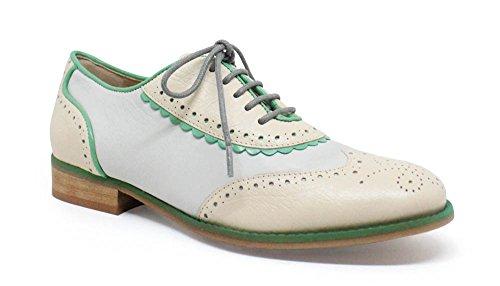 Oxford Simone Zapatos Bajos Estilo turquesa Beige 6XHqr6