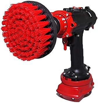 Broca Premium-Rígida, Roja 13cm Depurador de potencia profesional. No rasca las superficies. Adecuado para garaje, ladrillo, azulejos al aire libre, piedra, limpieza de llantas de automóviles