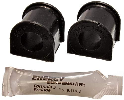Energy Bushings Crx Suspension (Energy Suspension 16.5110G Sway Bar Bushing Set; Black; Front; Bar Dia. 18mm; Performance Polyurethane;)