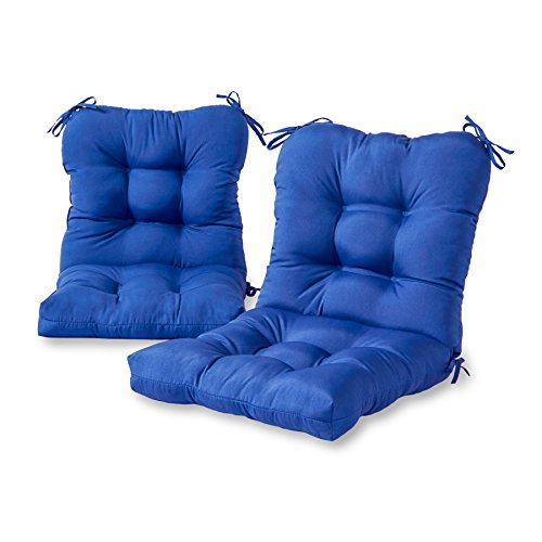 Cushion Only Set - Greendale Home Fashions Outdoor Seat/Back Chair Cushion (set of 2), Marine