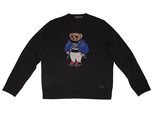 Polo Ralph Lauren Ski Bear Wool Camel Blend Crewneck Sweater-L