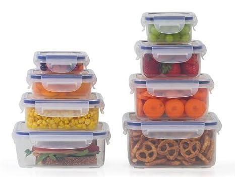 Amazoncom Popit Food Storage Containers 16 Piece Set 100 Leak