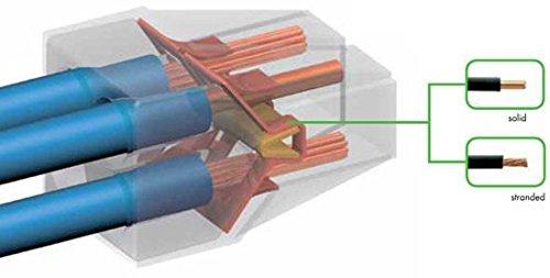 wago wire connector 600 v clear 4 conductor 100 box electrical rh amazon com
