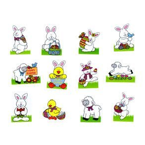 Glitter Easter Tattoos (72 Pack)