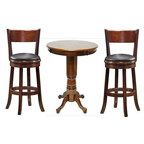 Boraam 3 Piece Pub Table Set in Walnut (Palmetto 29