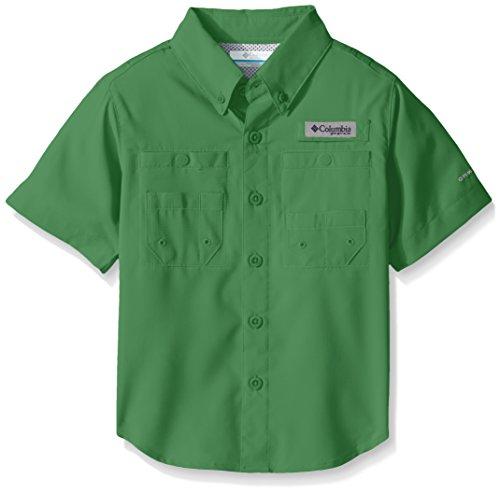 Columbia Boys Tamiami Short Sleeve Shirt, Emerald City, Large