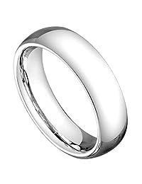 5mm High Polished Classic Domed Designer Comfort Fit Cobalt Wedding Band Ring
