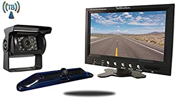 Tadibrothers 5th Wheel Wireless Backup Camera System with a 7 Inch Monitor and 2 Backup Cameras