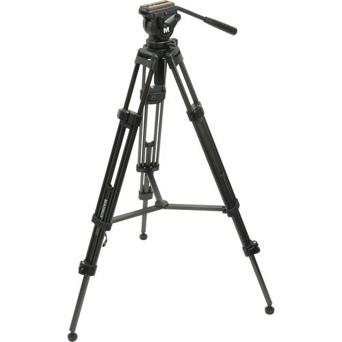 Magnus VT-4000 Professional High Performance Tripod System with Fluid Head (Manfrotto Tripod Fluid Head compare prices)
