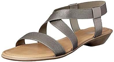 Sandler Women's Saratoga Fashion Sandals, Pewter Elastic, 10 AU (40 EU)