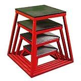 Ader Red Plyometric Platform Box (6-24'' 4 Pcs Red)
