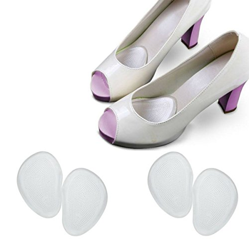 High Heels Foot Pain Relief Pads (2 Pairs) Metatarsalgia Ball Of Foot Cushions Metatarsal Pads Gel Inserts, Callus Corns Blisters Removal Care, Party Shoes Women by Ballotte