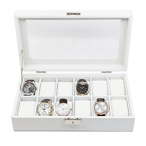 12-piece-cream-off-white-leatherette-ladies-or-mens-watch-box-display-case-jewelry-box-storage-glass