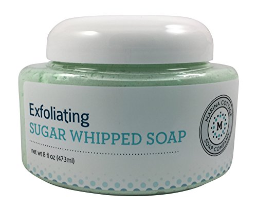 Peach Exfoliating Soap (Marina Cottage Soap Co. Organic Exfoliating Sugar Whipped Soap, Starry Night)