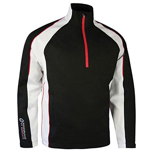 Sunderland Mens SUNMR42 Raglan Panelled Waterproof Golf Weatherbeater Black/White/Red L