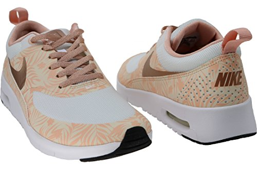 Nike Unisex-Kinder Air Max Thea Print (GS) Low-Top Weiß-Golden