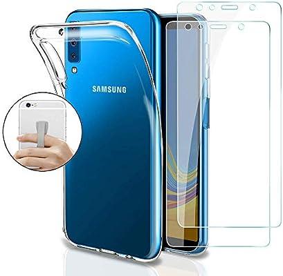 Coqin Funda para Samsung Galaxy A7 2018 + [2 Pack] Vidrio Templado ...