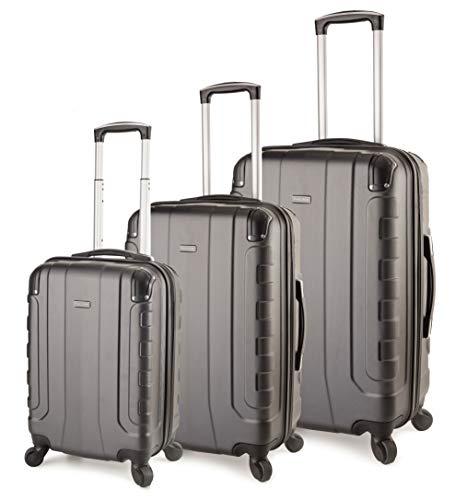 TravelCross Chicago Luggage 3 Piece Lightweight Spinner Set - Dark Gray