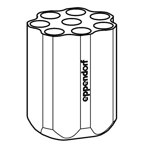 Eppendorf 5804783000 Adapter for Rotor S-4-72, Round Bucket, 8 Place, 15mL Conical Tube (Pack of 2)