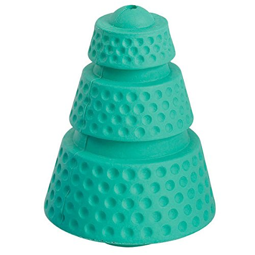 Hard Rubber Cosmic Cones (Hard Rubber Dog Toy - Large Cosmic Cone Galactic Green Tough Toys for Ruff Dogs)
