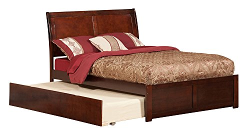 Atlantic Furniture Portland Full Platform Bed with Flat Pane
