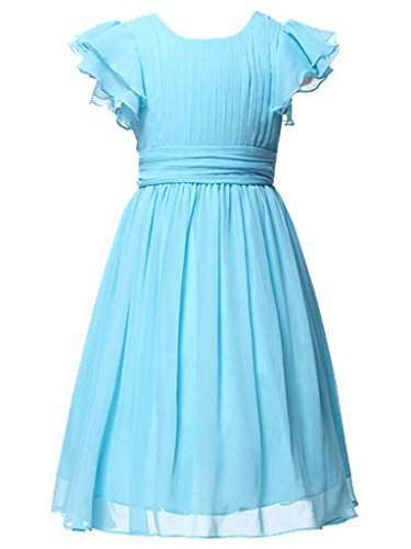 Happy Rose Flower Girl's Dress Prom Party Dresses Bridesmaid Dress Light Blue 14