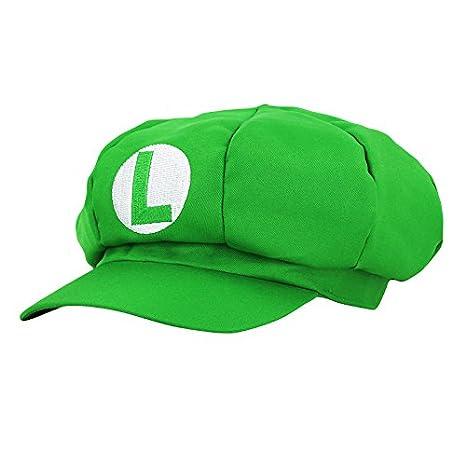 Super Mario Gorra Luigi - Disfraz de Adulto y Niños Carnaval y Cosplay - Classic Cappy Cap: Amazon.es: Juguetes y juegos