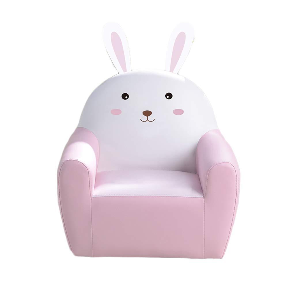 子供のソファ、PU子供チャイルドアームレストソファ漫画かわいい子供読書椅子2色をきれいにすること容易 (色 : ピンク)  ピンク B07RQT6TF7