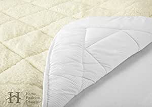 Amazon Com All Season Sherpa Quilted Fitted Mattress Pad