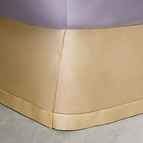 Ralph Lauren Langdon 624 TC Solid Sateen Polished Bronze Gold Bedskirt - King Bronze Bedskirt