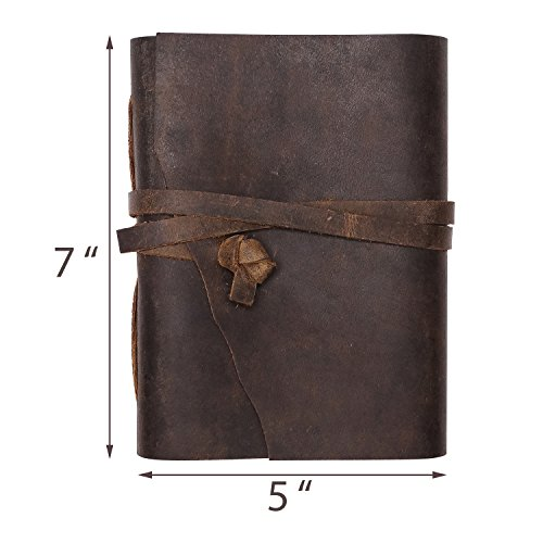 Nomads Vintage Antique Bound Hand Made Leather Journal Photo #3
