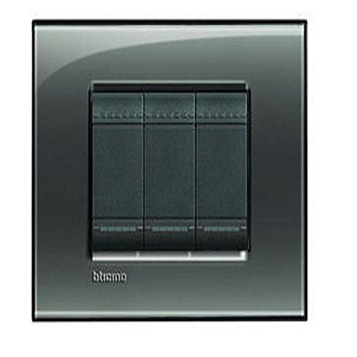 14 opinioni per BTicino LNA4804KF Livinglight Placca 4 Moduli, Quadra, Nero