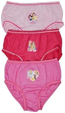 Aumsaa Niña Princesa Infantil Personajes 100% Calzoncillos Algodón Ropa Interior Slips Braguitas Paquete de 3 - Princesa Design 2, 2-3 yrs: Amazon.es: Ropa y accesorios