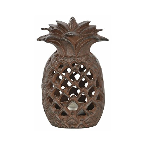Fallen Fruits Cast Iron Pineapple Outdoor Tea Light Candle Holder -