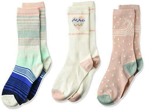Gymboree Girls' Big 3-Pack Socks, rainbow rib, -