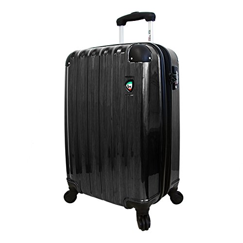 mia-toro-spazzolato-lucido-hardside-25-inch-spinner-black-one-size