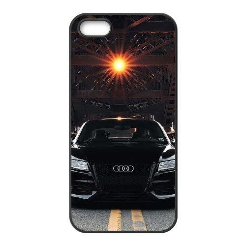 Audi coque iPhone 5 5S Housse téléphone Noir de couverture de cas coque EBDOBCKCO13685