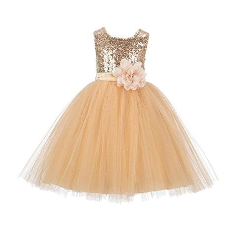 Christmas Gowns For Toddlers - Wedding Formal Sequins Bodice Ruffle Tulle
