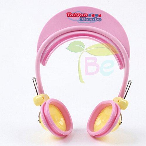 Children Earmuff Shampoo Bath Bathing Shower Cap Hat Wash Hair Shield for Baby Boys Girls (pink)