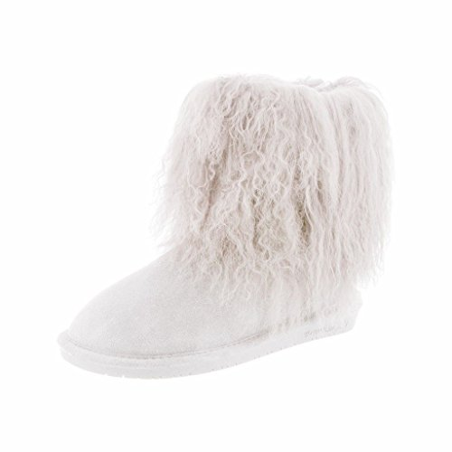 Image of BEARPAW Boo Women Round Toe Suede Gray Winter Boot