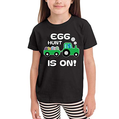 Rusuanjun Egg Hunting Tractor Love Children's T-Shirt Black 4T Fun and Cute]()