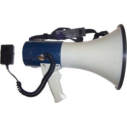 Seismic Audio SA-MEGA1 Professional Large Bell Transistor Megaphone with Detachable Microphone PA/DJ Megaphones Live Sound use Seismic Audio Speakers Inc.