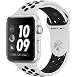Apple Watch Series 3 Nike+ 38mm 16GB Factory Unlocked GPS + 4G/LTE Smart Watch (Silver Aluminium Case with Pure Platinum/Black Nike Sport Band) - International Version