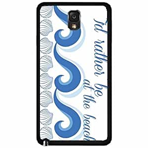 I'd Rather Be At the Beach Plastic Phone Case Back Cover Samsung Galaxy Note III 3 N9002