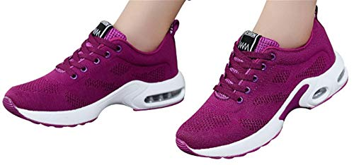 Gyoume Sports Shoes Women Slip On Shoes Running Walking Shoes Student Mesh Shoe Hot Pink