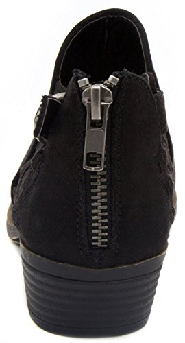 Detail Boot Black Micro Women's Ankle With Bootie Sugar Tiernie Woven qOwAgxC