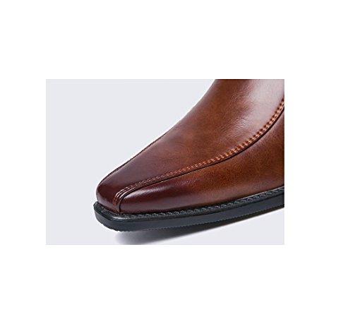 zmlsc Casual Hommes Chaussures en Cuir D'affaires Ronde Souple Point Point Ruban Saison Couleur Toile Sport Sandales Bottes Black gXNhMyoit